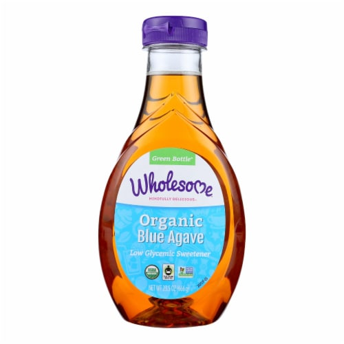 Wholesome Sweeteners Blue Agave - Organic - 23.5 oz - case of 6 Perspective: front