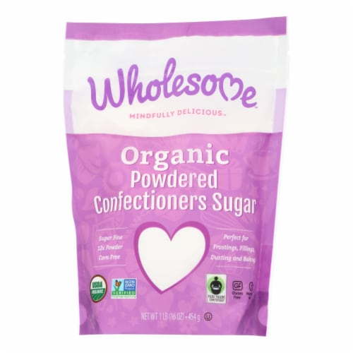Wholesome Sweeteners Powdered Sugar - Organic and Natural - Case of 6 lbs Perspective: front