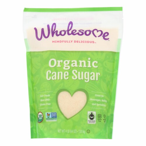 Wholesome Sweeteners Sugar - Organic - Turbinado - Raw Cane - 64 oz - case of 6 Perspective: front