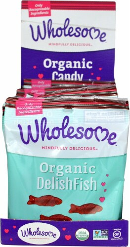 Wholesome  Organic DelishFish Candy Gluten Free Perspective: front