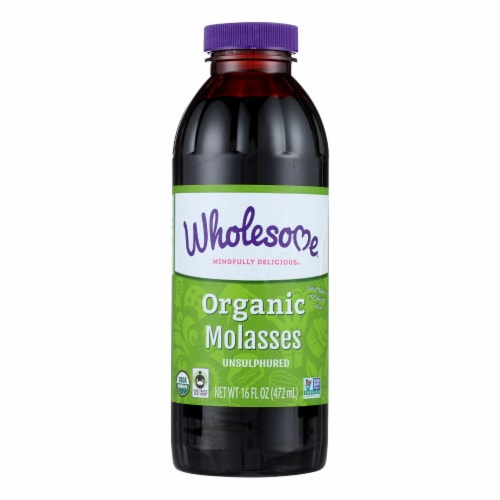 Wholesome Sweeteners Molasses - Organic - Blackstrap - Unsulphured - 16 oz - case of 12 Perspective: front