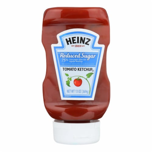 Heinz Ketchup, Reduced Sugar  - Case of 6 - 13 OZ Perspective: front