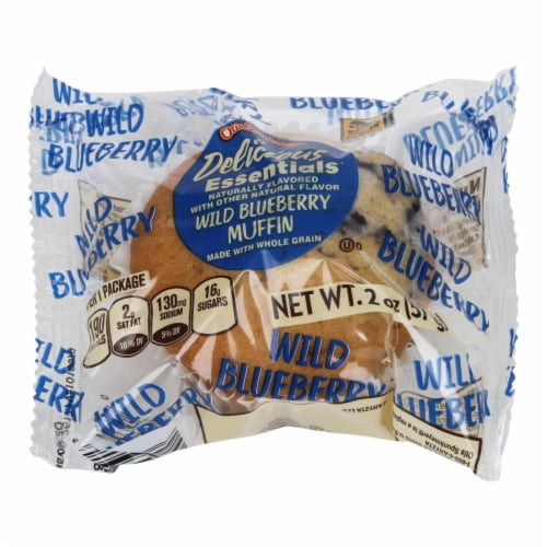 Otis Spunkmeyer Whole Grain Wild Individually Wrapped Blueberry Muffin, 2 Ounce -- 72  case. Perspective: front