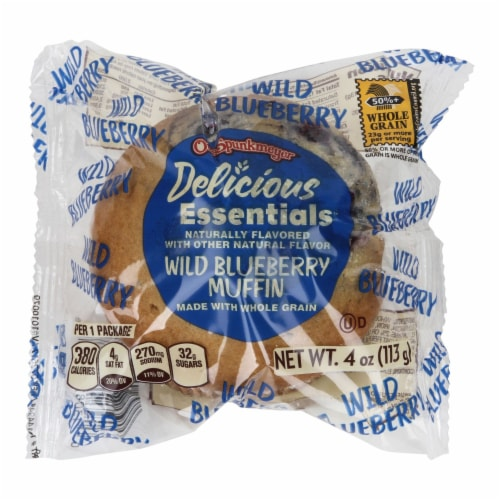 Otis Spunkmeyer Whole Grain Wild Blueberry Muffin, 4 Ounce -- 48 per case. Perspective: front