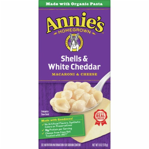 Annie's Shells & White Cheddar Macaroni & Cheese Case Sale Perspective: front