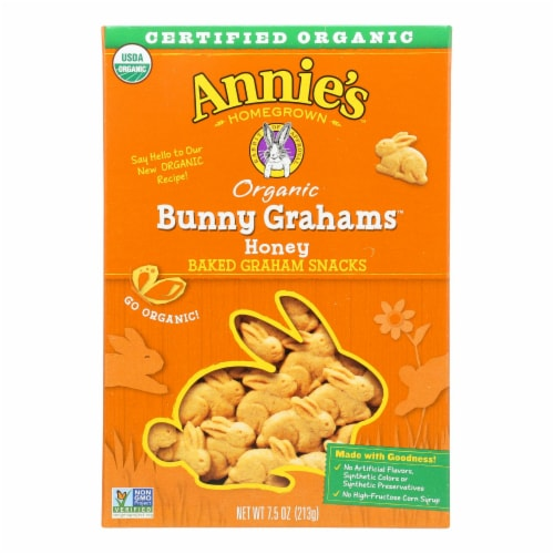 Annie'S Homegrown Bunny Grahams Honey - Case Of 12 - 7.5 Oz Perspective: front