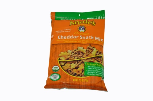 Annies Homegrown Organic Cheddar Snack Mix, 2.5 Ounce -- 12 per case. Perspective: front