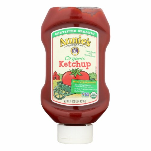 Annie's Homegrown Organic Ketchup (12 Pack) Perspective: front