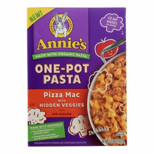 Annie's Homegrown - One Pot Psta Veg Pizz - Case of 8 - 6.8 OZ Perspective: front