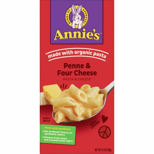 Annie's Homegrown Organic Penne & Four Cheese Macaroni & Cheese Case Sale Perspective: front