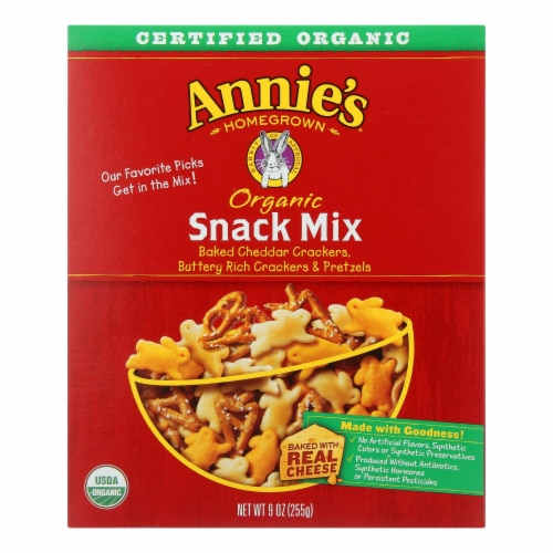 Annie's Homegrown Organic Snack Mix Bunnies - Case of 12 - 9 oz. Perspective: front