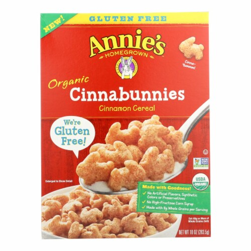 Annie's Homegrown Cereal Cinnabunnies Perspective: front