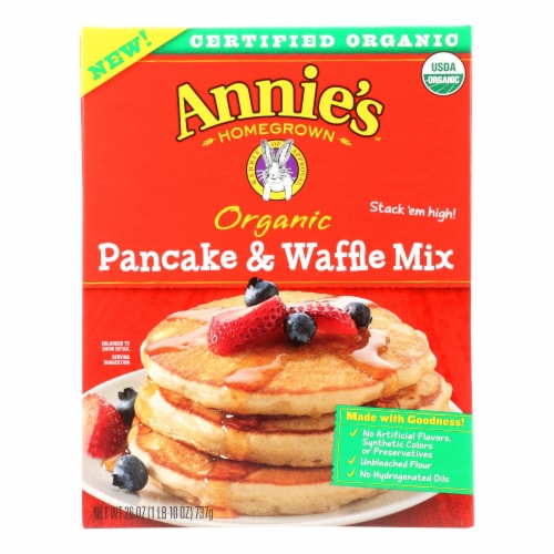Make Annie's Organic Pancake & Waffle Mix And  - Case of 8 - 26 OZ Perspective: front
