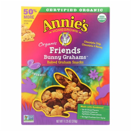 Annie's Homegrown Bunny Grahams - Organic - Friends - Case of 6 - 11.25 oz Perspective: front