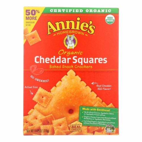 Annie'S Homegrown Cheddar Squares Cheddar Squares - Case Of 6 - 11.25 Oz Perspective: front