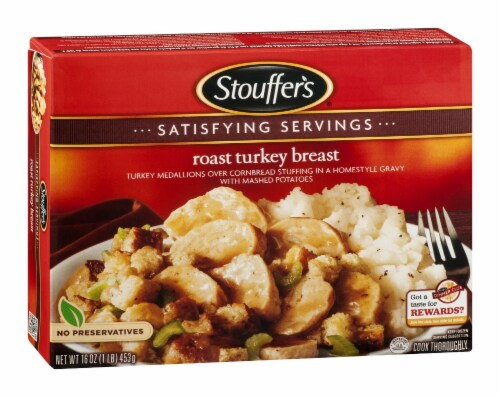 Stouffer's, Roast Turkey Breast, 16 oz. (12 count) Perspective: front