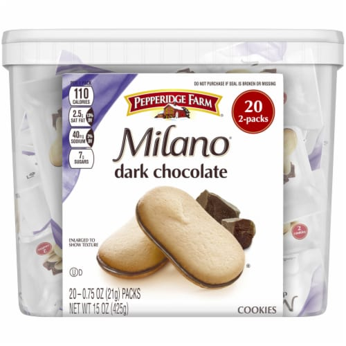 Pepperidge Farm Milano Dark Chocolate Cookies Perspective: front
