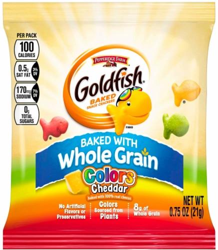 Pepperidge Farms Goldfish Colors Whole Grain Cracker, 0.75 Ounce -- 300 per case. Perspective: front