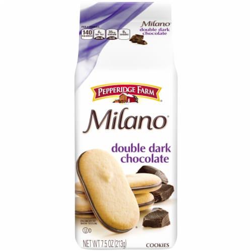 Pepperidge Farm Milano Double Dark Chocolate Cookies Perspective: front