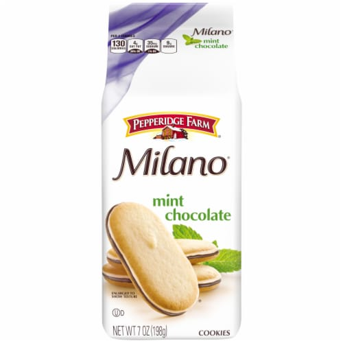 Pepperidge Farm Milano Mint Chocolate Cookies Perspective: front
