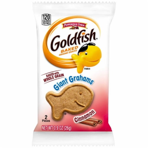Pepperidge Farm Goldfish Giant Graham Crackers Cinnamon, 300-Count Pouches Perspective: front