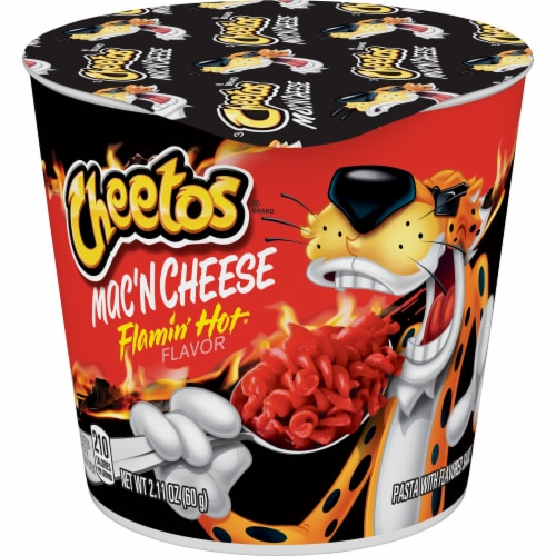 Cheetos Flamin' Hot Mac 'N Cheese Cups Perspective: front