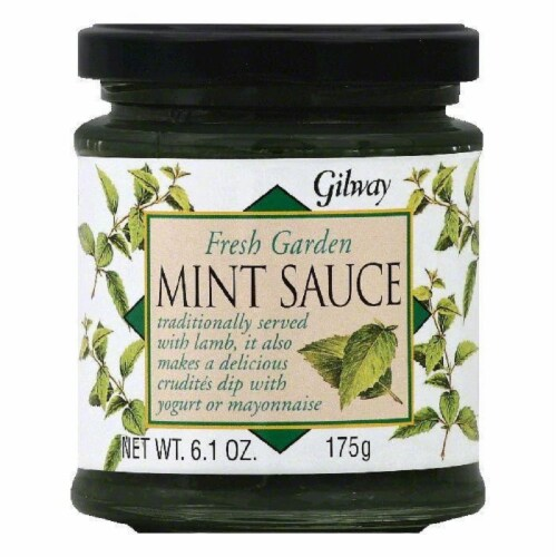 Gilway Fresh Garden Mint Sauce, 6.1 OZ (Pack of 6) Perspective: front