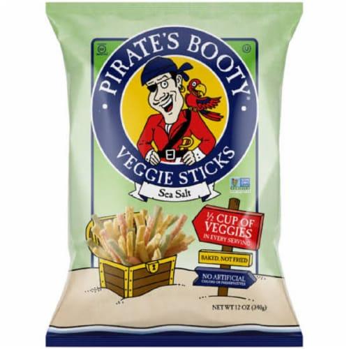 Pirate's Booty Fruit Sticks Veggie Sticks Sea Salt, 12oz (Pack of 12) Perspective: front