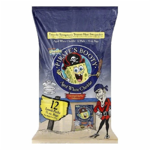 Pirate Brand Pirate Booty Aged White Cheddar, 6 OZ (Pack of 12) Perspective: front