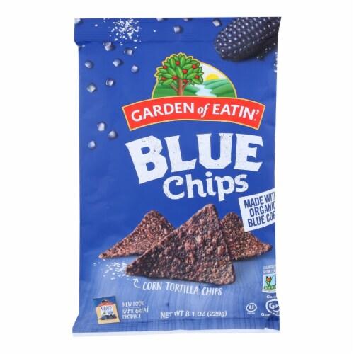 Garden of Eatin' Blue Corn Tortilla Chips - Tortilla Chips - Case of 12 - 8.1 oz. Perspective: front
