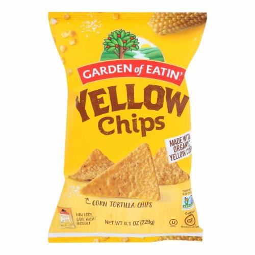Garden of Eatin' Yellow Corn Tortilla Chips - Tortilla Chips - Case of 12 - 8.1 oz. Perspective: front