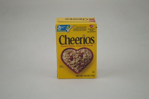 General Mills Cheerios Cereal, 0.63 oz, Single Pack - Toasted Whole Grain Oat Cerel -- 70  CS Perspective: front