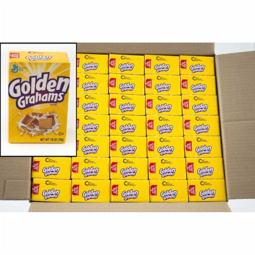 General Mills Golden Graham - Honey Cereal, Single Pack, 0.88 Ounce -- 70 per case. Perspective: front