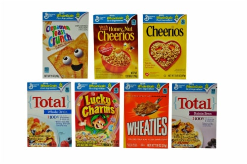 General Mills Assorted Favourites Cereal -- 70 per case. Perspective: front
