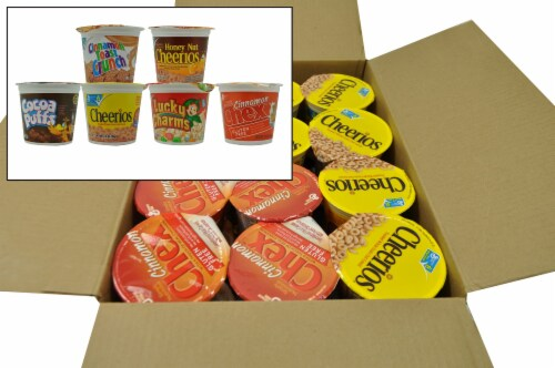 General Mills Cereal in a Cup, Assorted Pack -- 60 per case. Perspective: front
