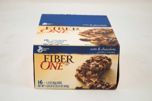 General Mills Original Oat and Chocolate Fiber One Cereal Bar, 22.6 Ounce -- 8 per case. Perspective: front