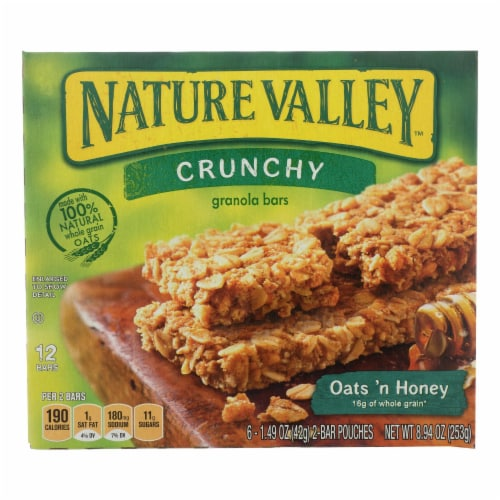 Nature Valley Crunchy Oats 'n Honey Granola Bars (12 Pack) Perspective: front