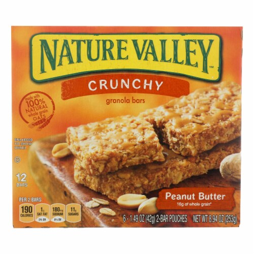 Nature Valley Crunchy Peanut Butter Granola Bars (12 Pack) Perspective: front