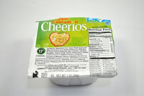 Apple Cinnamon Cheerios Cereal, 1 Ounce -- 96 per case. Perspective: front