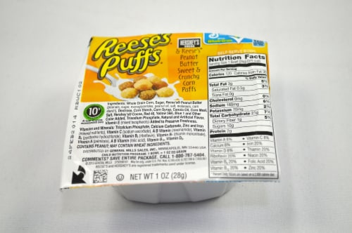 Reeses Puffs Cereal, 1 Ounce -- 96 per case. Perspective: front