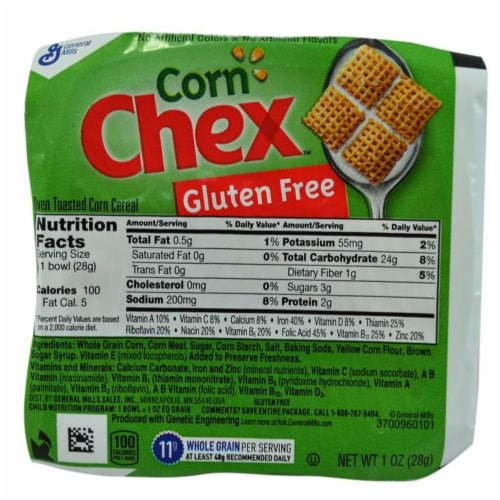 Chex Corn Bowlpak Cereal, 1 Ounce -- 96 per case. Perspective: front