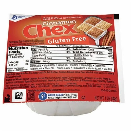 Chex Cereal Cinnamon, 1 Ounce -- 96 per case. Perspective: front