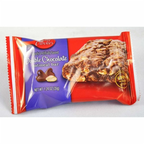 Betty Crocker Double Chocolate Oatmeal Bar, 1.24 Ounce -- 144 per case. Perspective: front
