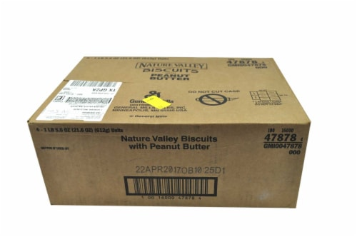 Nature Valley Biscuits with Peanut Butter, 21.6 Ounce -- 6 per case. Perspective: front