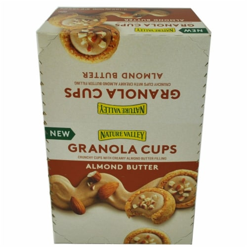 Nature Valley Almond Butter Granola Cups, 14.88 Ounce -- 6 per case. Perspective: front