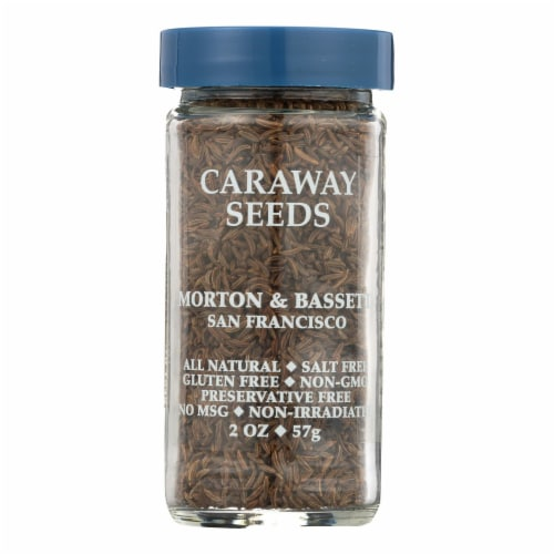 Morton & Bassett Caraway Seed Seasoning  - Case of 3 - 2 OZ Perspective: front