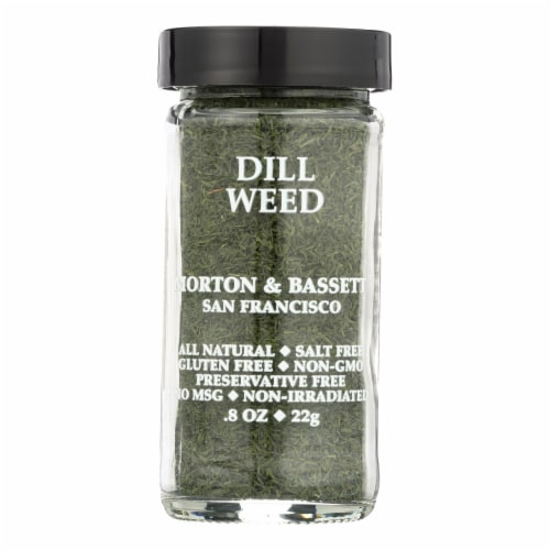 Morton and Bassett Seasoning - Dill Weed - .8 oz - Case of 3 Perspective: front