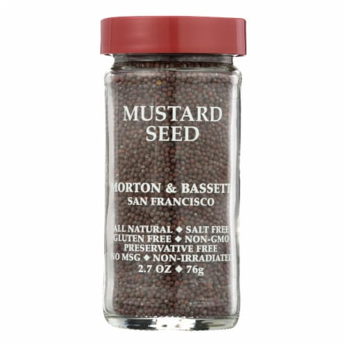 Morton and Bassett Seasoning - Mustard Seed - Brown - 2.7 oz - Case of 3 Perspective: front