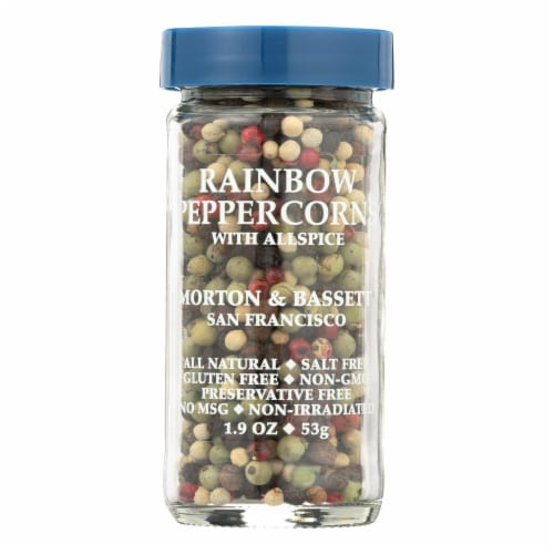 Morton and Bassett Peppercorns - Whole - Rainbow - 1.9 oz - Case of 3 Perspective: front