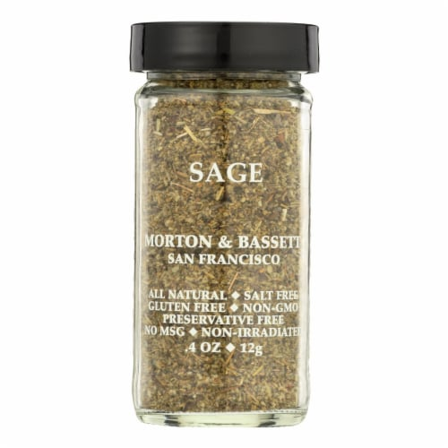 Morton and Bassett Sage - .33 oz - Case of 3 Perspective: front